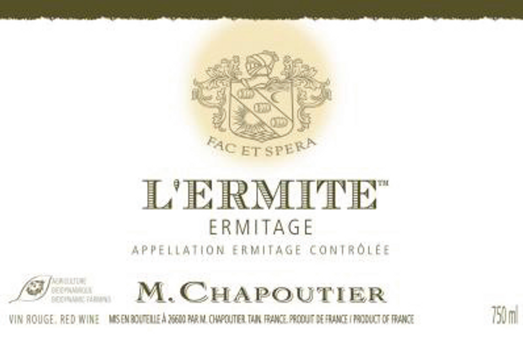 Ermitage Rouge L Ermite,  Hermitage, Northern Rhone, France, M Chapoutier 2014