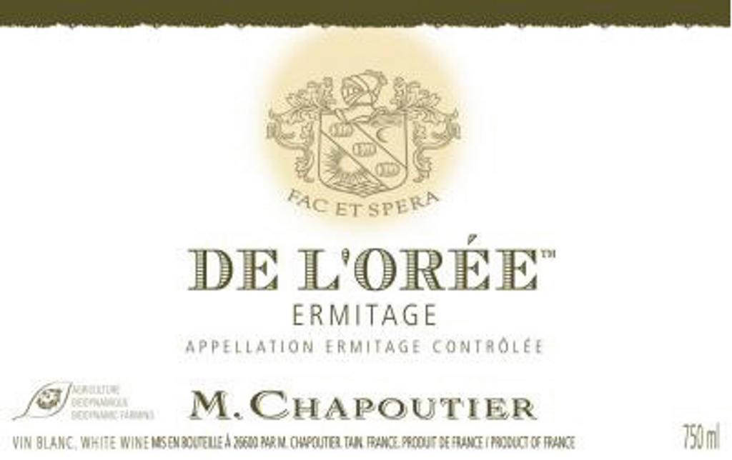 Ermitage 'De L'Orée'  Blanc, M Chapoutier, Hermitage, Northern Rhome, France 2014