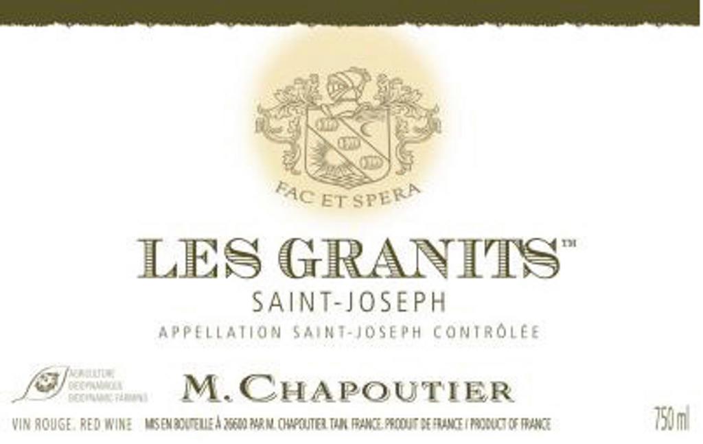 Saint Joseph Rouge Les Granits, M Chapoutier, Northern Rhone, France 2015