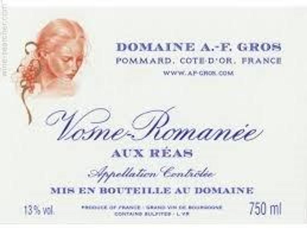 Vosne Romanee Aux Reas Domaine A F Gros, Côte de Nuits, Burgundy, France 2015