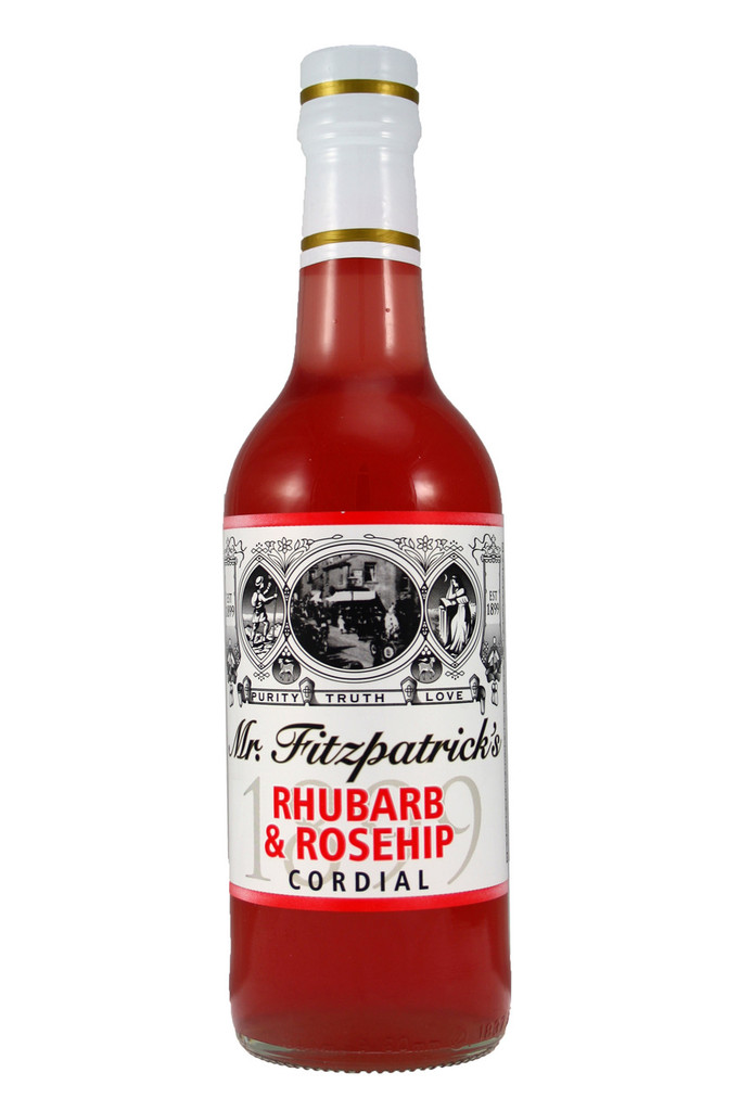 Mr Fitzpatricks Rhubarb and Rosehip Cordial