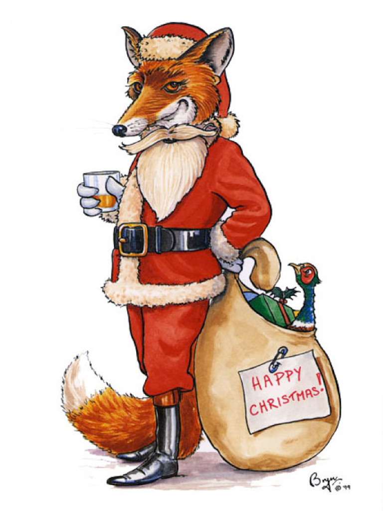Undercover Fox Christmas Card Bryn Parry
