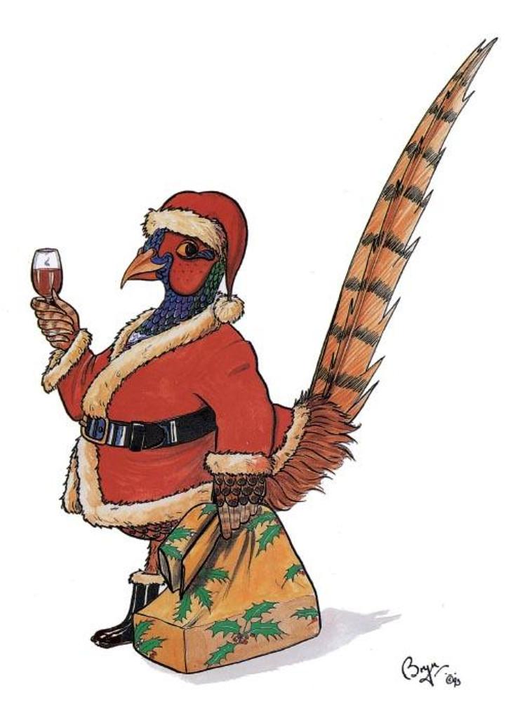 Christmas Pheasant Christmas Card