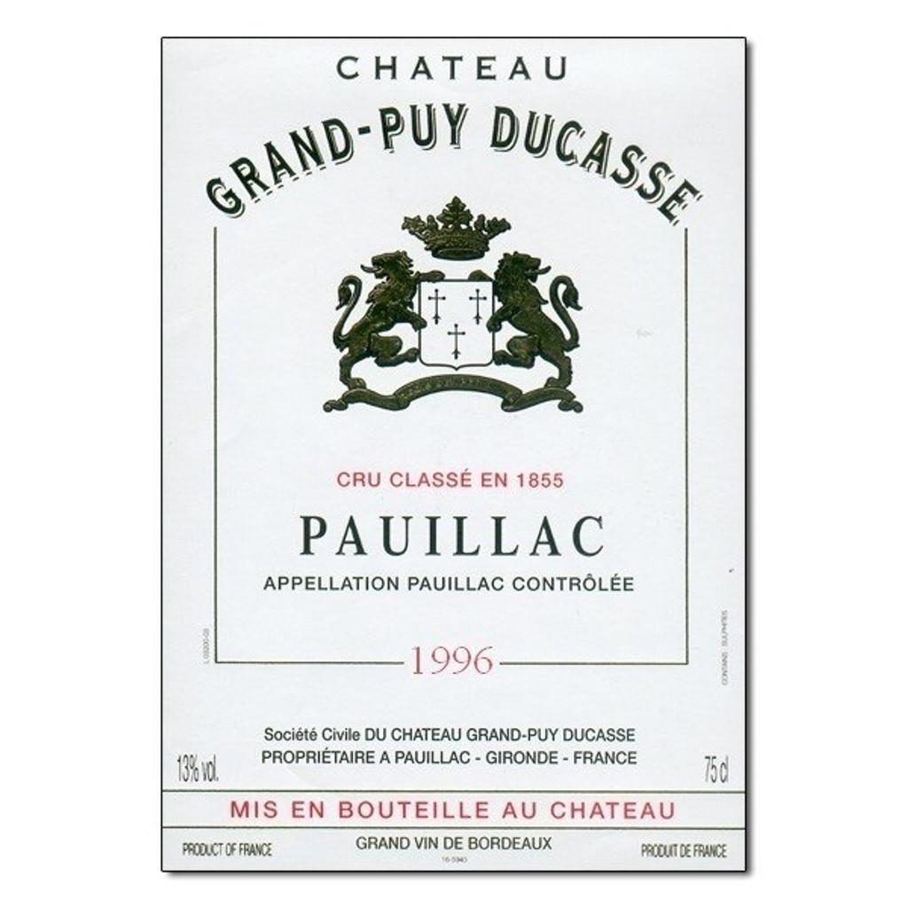 Château Grand Puy Ducasse 2018 Pauillac Cinquieme Cru Classe 12 x 75cl