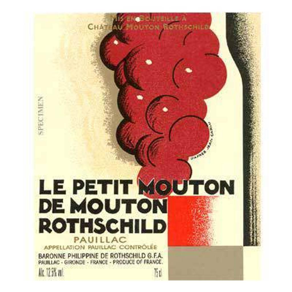 Château Mouton Rothschild Le Petit Mouton 2018 Pauillac 12 x 75cl