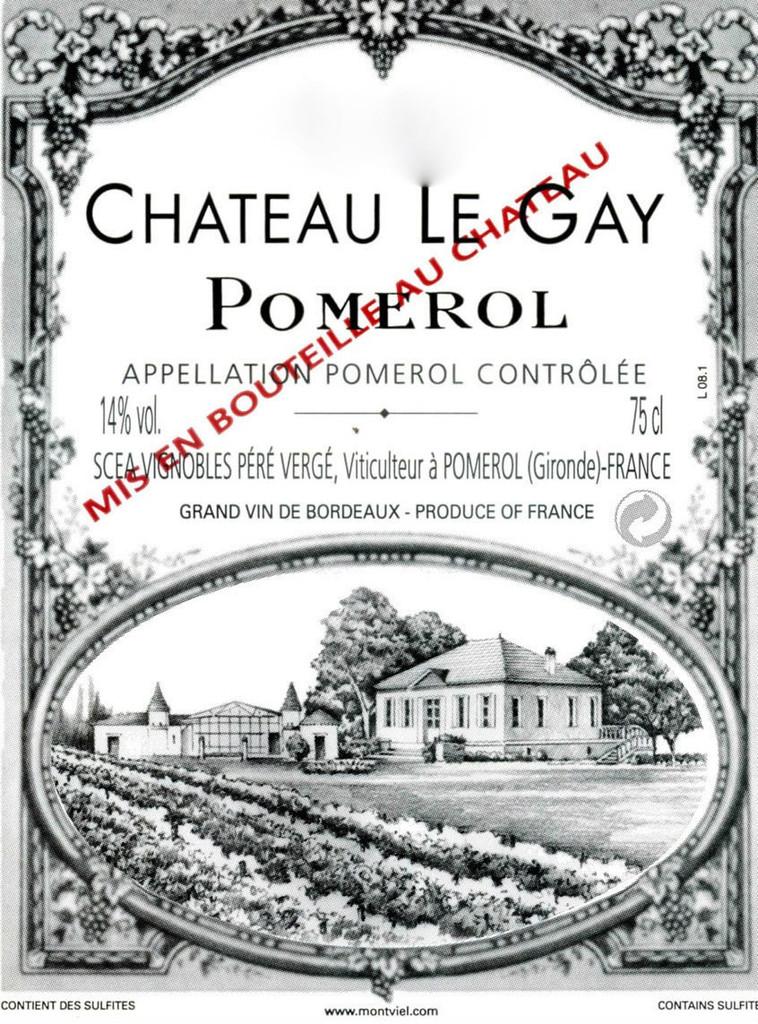 Château Le Gay 2018 Pomerol 12 x 75cl