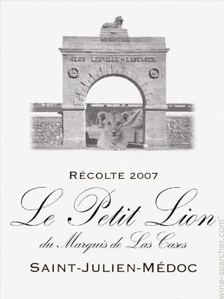 Le Petit Lion de Leoville Las Cases 2018 Saint Julien 12 x 75cl