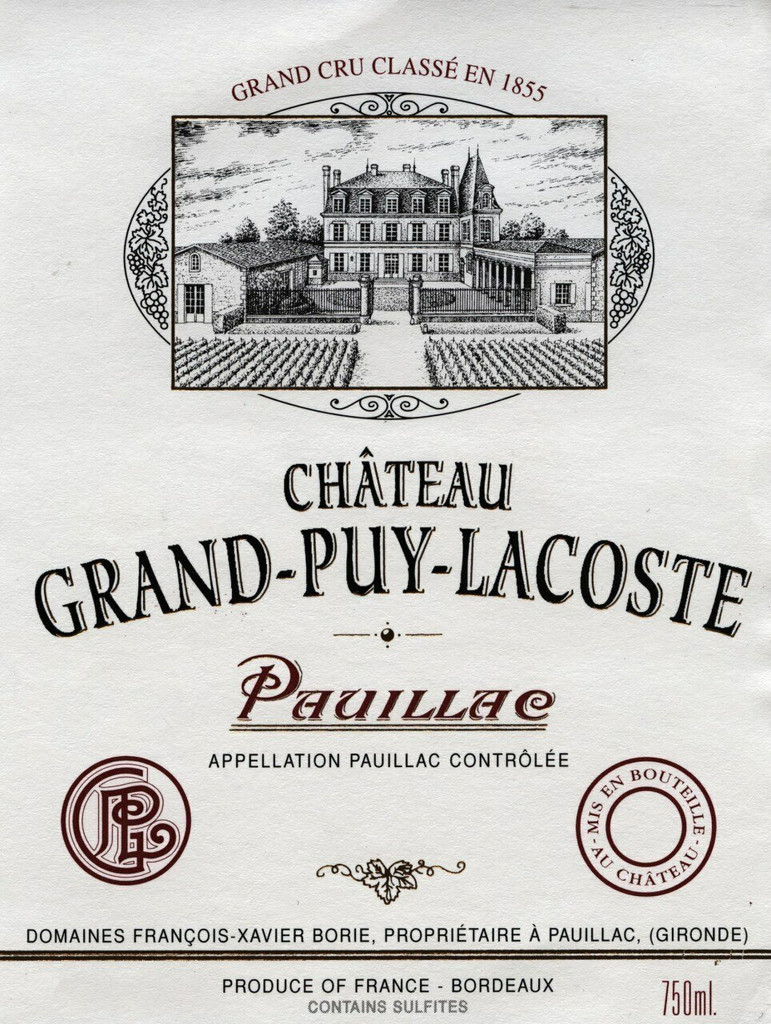 Chateau Grand Puy Lacoste 2020 12 x 75cl En Primeur