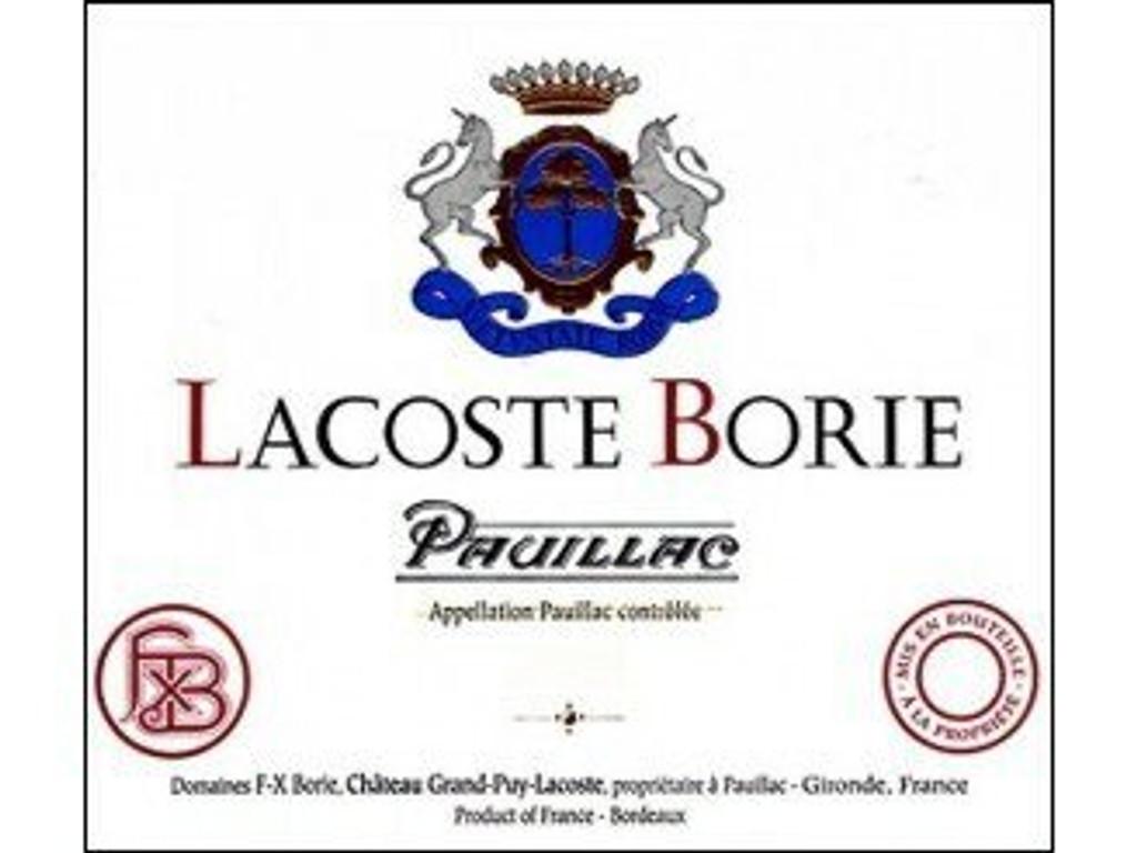 Chateau Lacoste Borie 2020 12 x 75cl En Primeur