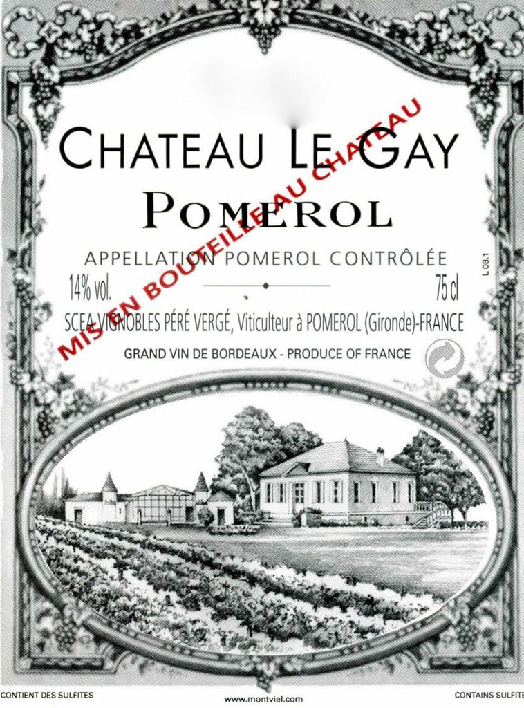 Chateau Le Gay 2020 6 x 75cl En Primeur