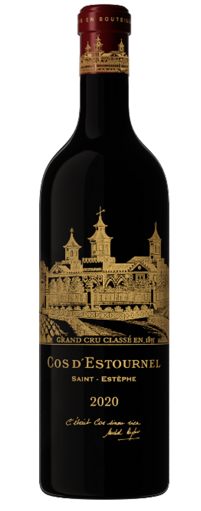 """Special 2020 Bottling  """"Two centuries of history, twenty years of passion. The perfect moment to reveal our 2020 vintage, bottled in an exceptional flacon. A wondrously harmonious vintage, a celebration of two decades at the helm of Cos d'Estournel."""" Michel Reybier"""