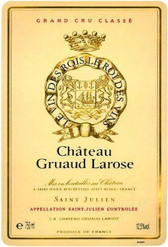 Chateau Gruaud Larose 2020 6 x 75cl En Primeur