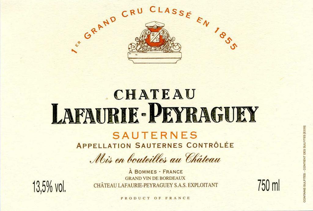 Chateau Lafaurie Peyraguey 2020 6 x 75cl En Primeur