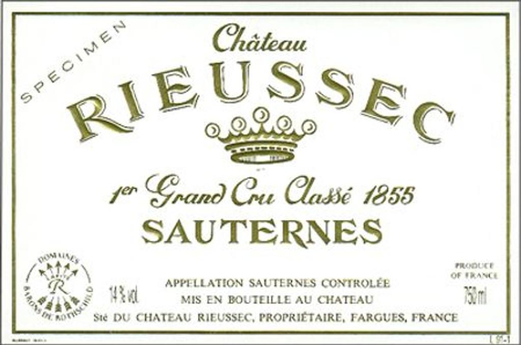 Chateau Rieussec 2020 6 x 75cl En Primeur