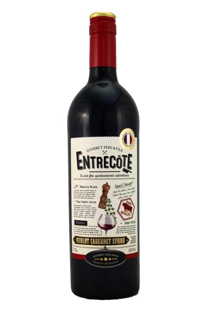 Entrecote Merlot Cabernet Syrah ,Gourmet Pere & Fils, Languedoc Roussillon, France, 2020
