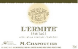 Ermitage Blanc L'Ermite 2012 M Chapoutier, Hermitage, Northern Rhone France