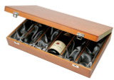 6 Bottle Wooden Presentation Box Silk lined