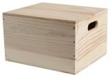6 Bottle Wooden Hamper Box Drop on Lid
