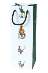 Wine Bottle Bag Pheasant Design by Bryn Parry