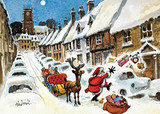 Door Step Santa Chirstmas Thelwell Card