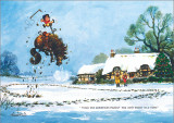 Christmas Present Thelwell Card