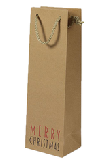 Single Bottle Wine Gift Bag Christmas Design