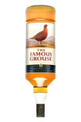 The Famous Grouse Whisky Gallon 4.5ltr. The label appears upside down as the bottle was designed for the optic rack behind the bar.