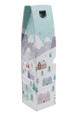 Single Bottle Gift Carton Snowy Scene Design