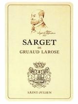 Chateau Gruaud Larose Sarget de Gruaud Larose 2020 12 x 75cl En Primeur