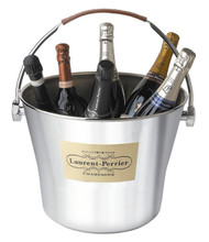 Champagne Bowl with Leather Handle