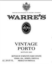 Warres Vintage Port 2016 6 x 75cl