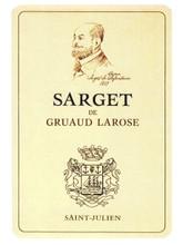 Château Gruaud Larose Sarget de Gruaud Larose 2018 Saint Julien 12 x 75cl