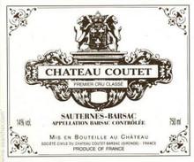 Château Coutet 2018 Sauternes Premier Cru 6 x 75cl