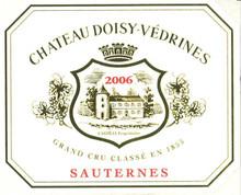 Château Doisy Vedrines 2018 Sauternes Premier Cru 24 x 37.5cl