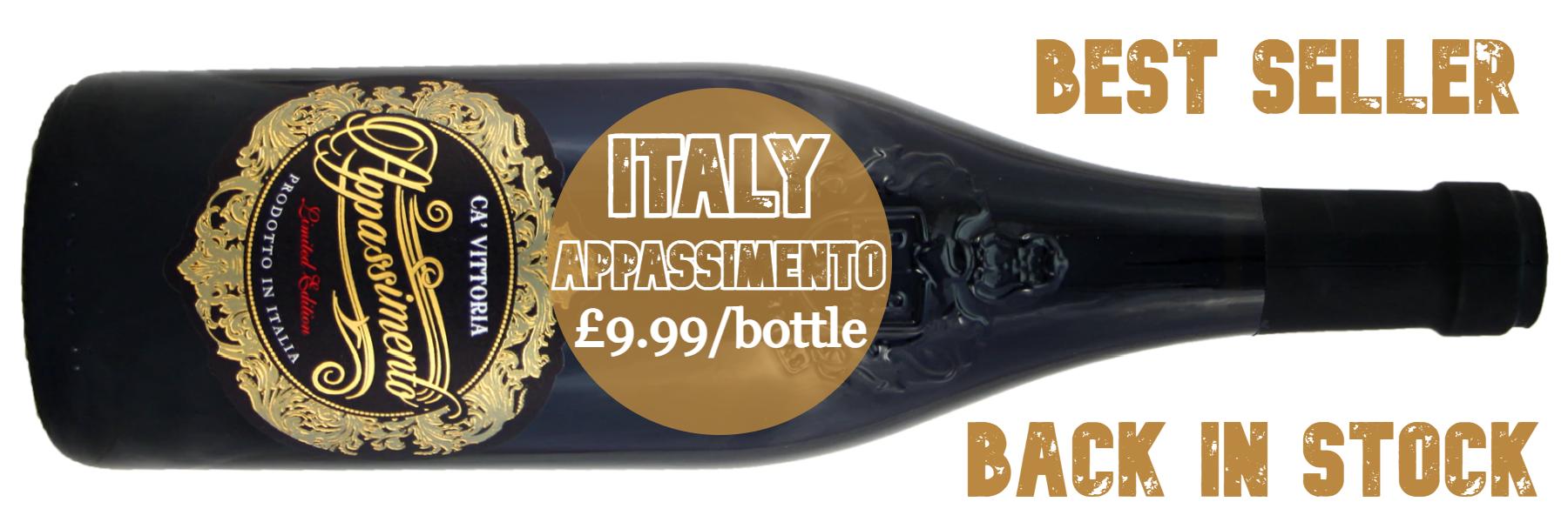 New 2020 vintage - Ca' Vittoria Appassimento £9.99/bottle