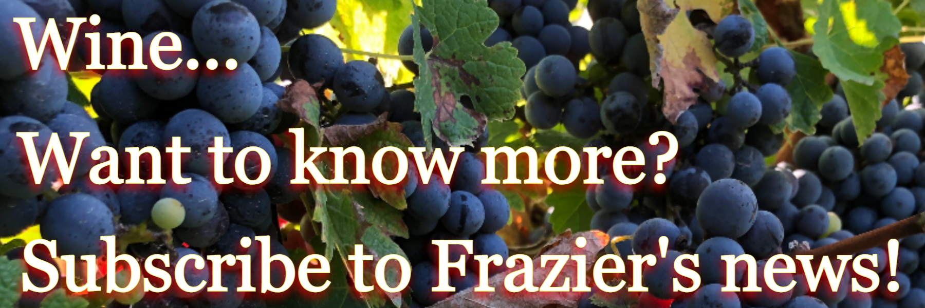 Subscribe to Frazier's news letter