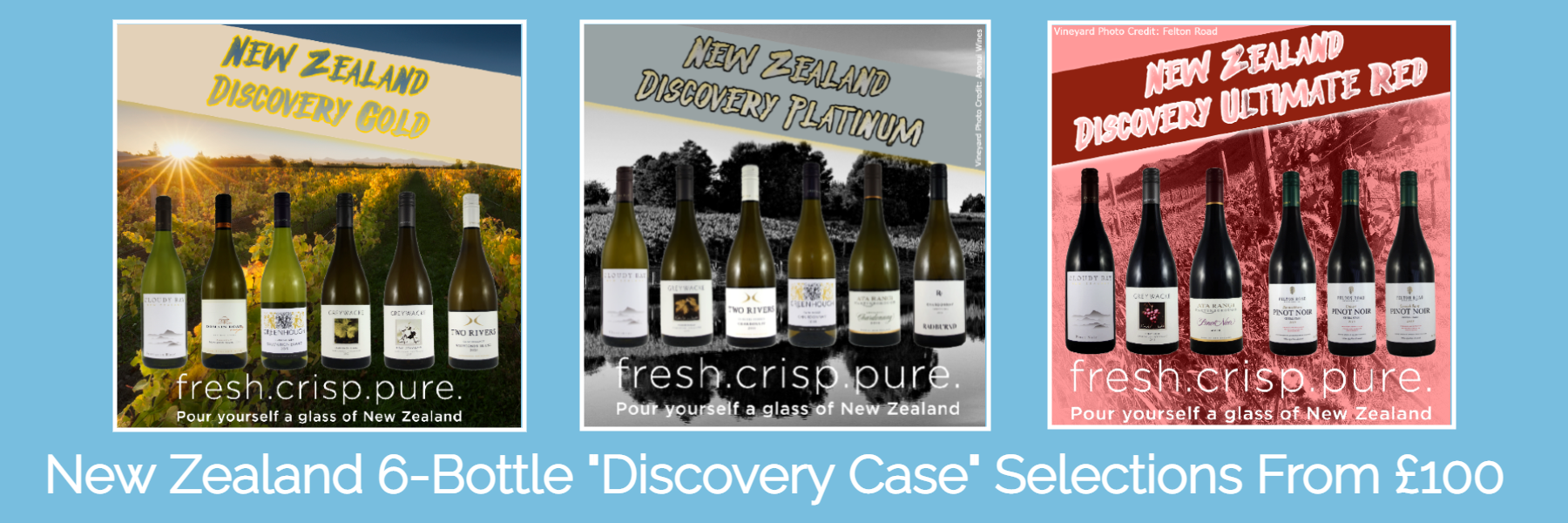 New  Zealand & Bordeaux Discovery Cases From £100 Each