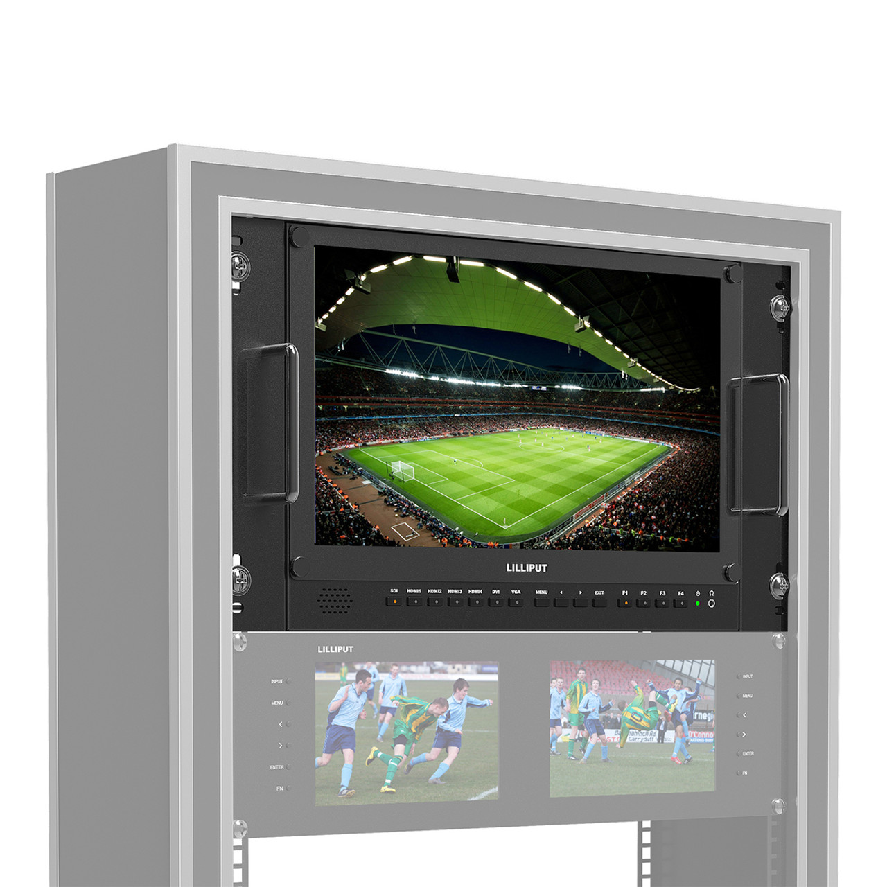"BM150-4KS 15.6"" Carry-on/Rackable 4K Broadcast Director Monitor with SDI, HDMI, VGA & DVI inputs"