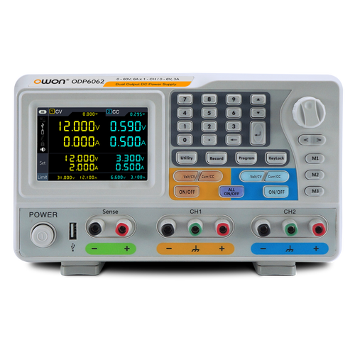 ODP6062 OWON 12A / 6A Dual Output Programmable DC Power Supply