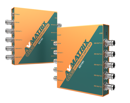 SD1191 1x9 3G-SDI Distribution Amplifier
