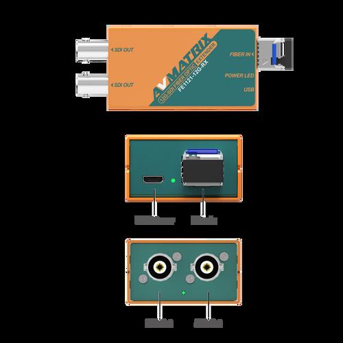 FE1121-12G 12G-SDI fiber extender kit