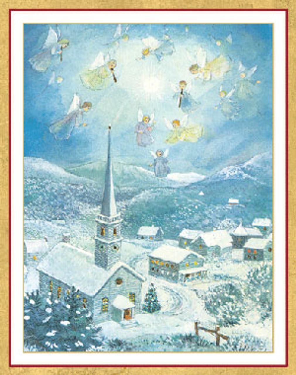 Angels Christmas Cards.Angels Over Bethlehem Christmas Card