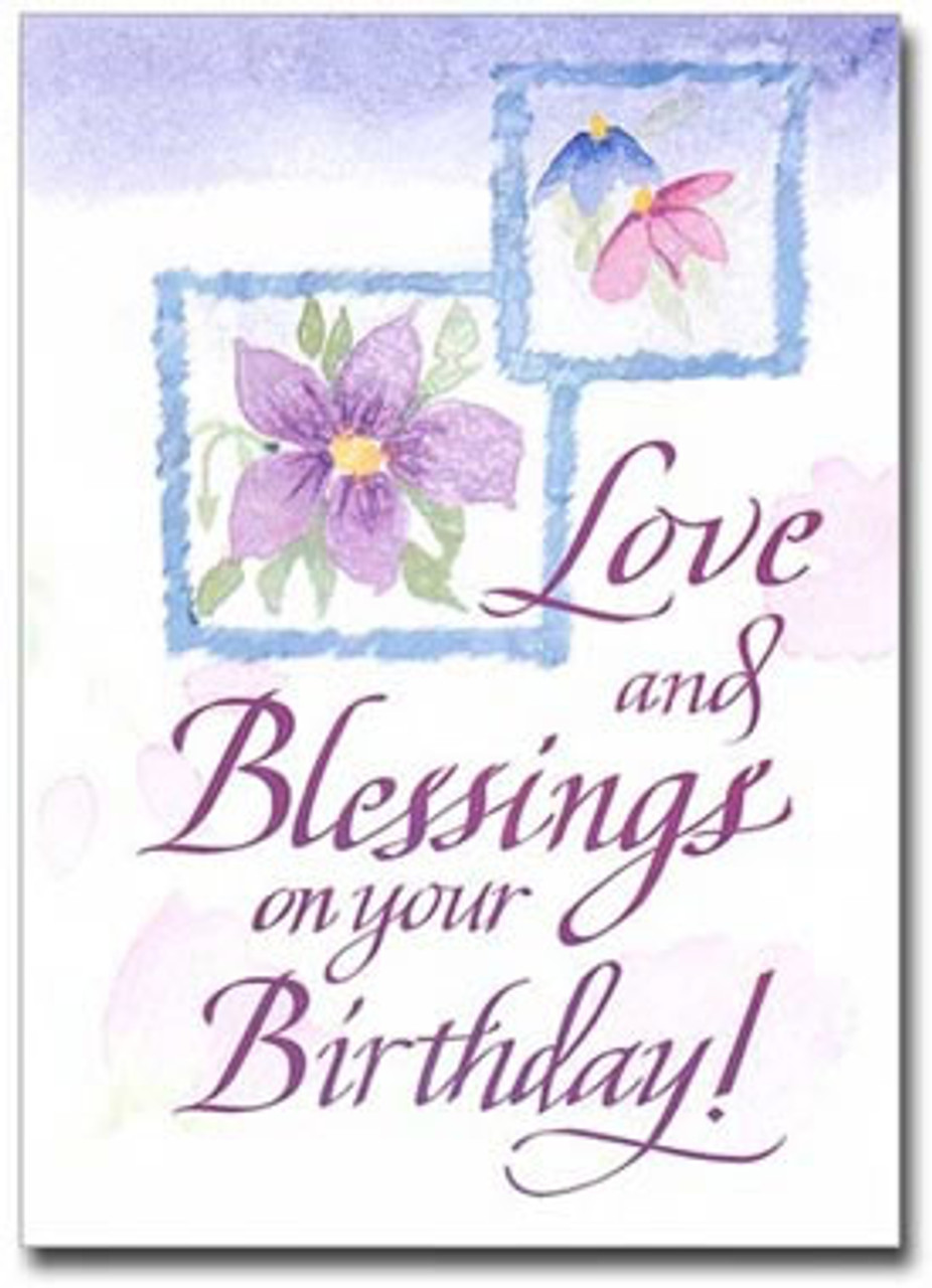 Love And Blessings Birthday Card