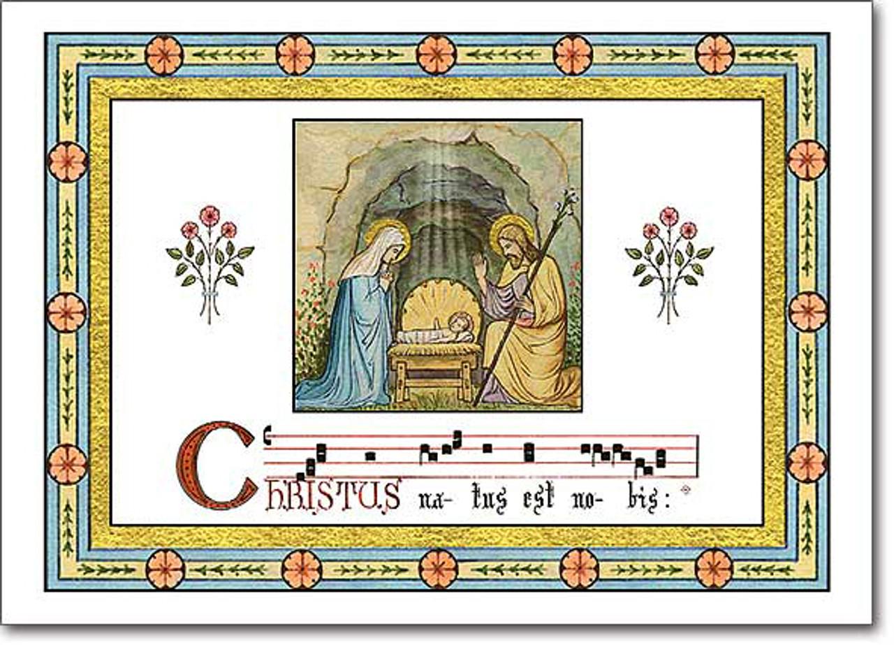 Gregorian Christmas Chants.Gregorian Chant Christmas Card