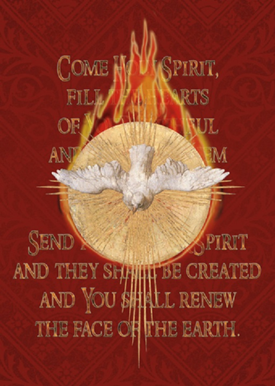 Holy Spirit Fire Confirmation Greeting Card