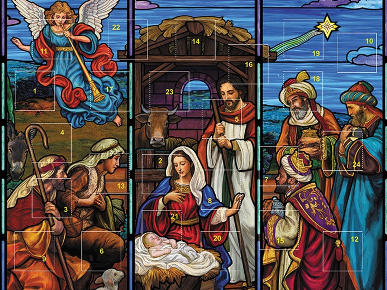 Sisters Of Carmel Stained Glass Nativity Advent Calendar