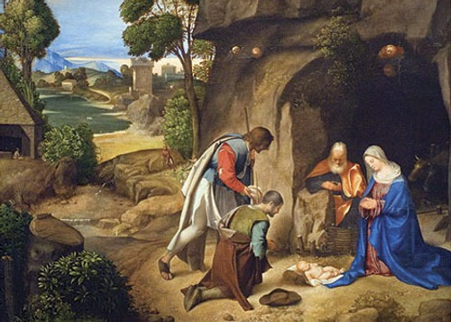 Christmas Shepherds.Adoration Of The Shepherds Christmas Card
