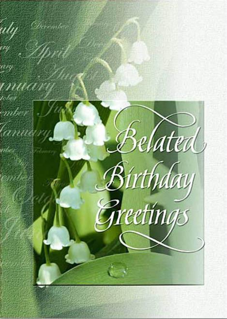 Remarkable Belated Birthday Greetings Birthday Card Sisters Of Carmel Personalised Birthday Cards Veneteletsinfo