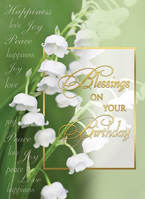 Blessings On Your Birthday Greeting Card