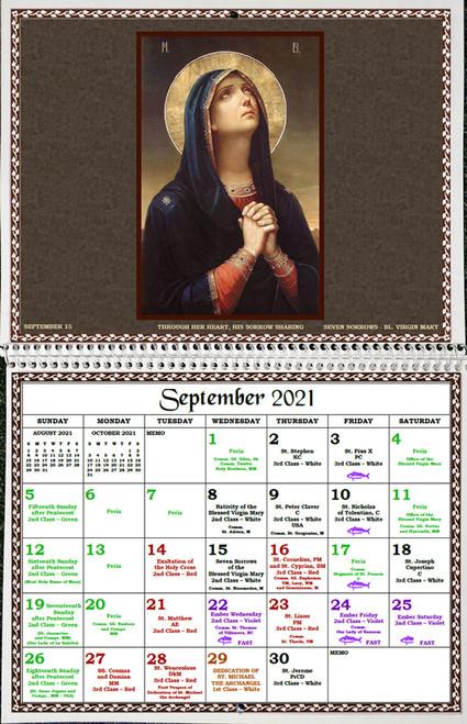 Traditional Latin Mass Calendar 2021 Photos